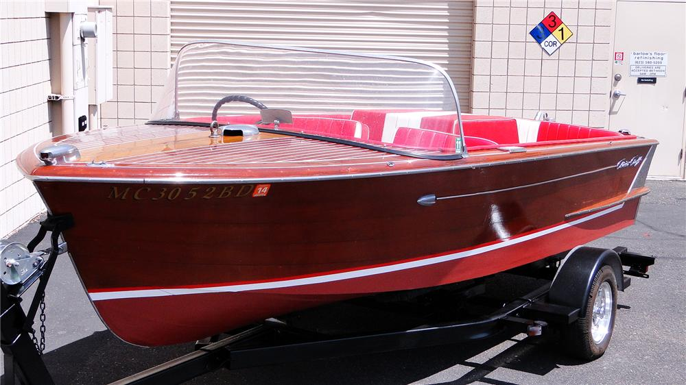 1959 CHRISCRAFT CONTINENTAL 18' BOAT - Front 3/4 - 177078