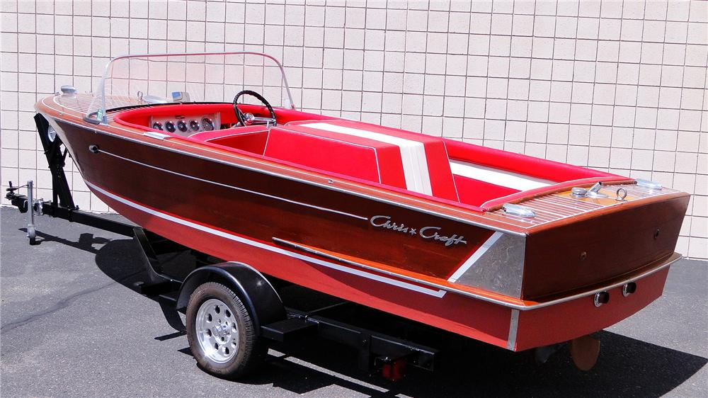 1959 CHRISCRAFT CONTINENTAL 18' BOAT - Rear 3/4 - 177078