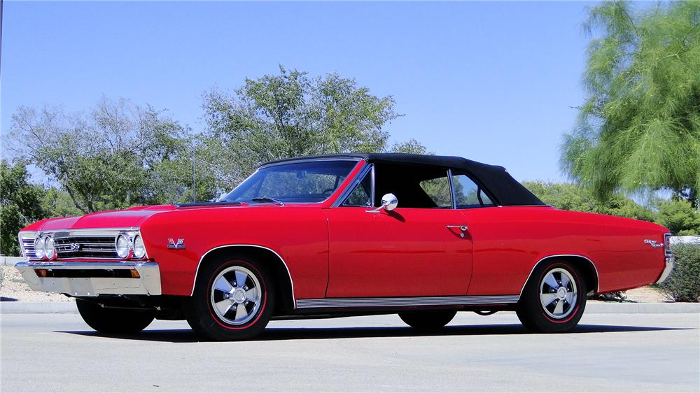 1967 CHEVROLET CHEVELLE SS CONVERTIBLE - Front 3/4 - 177085