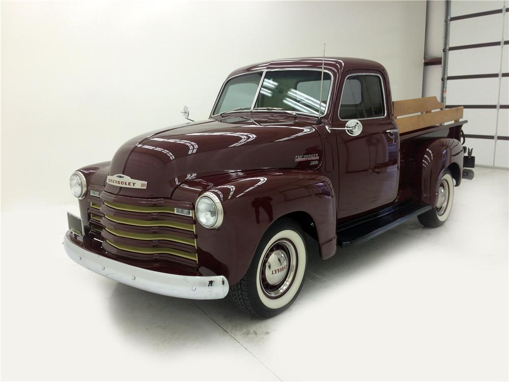 1949 CHEVROLET 3100 CUSTOM PICKUP - Front 3/4 - 177096
