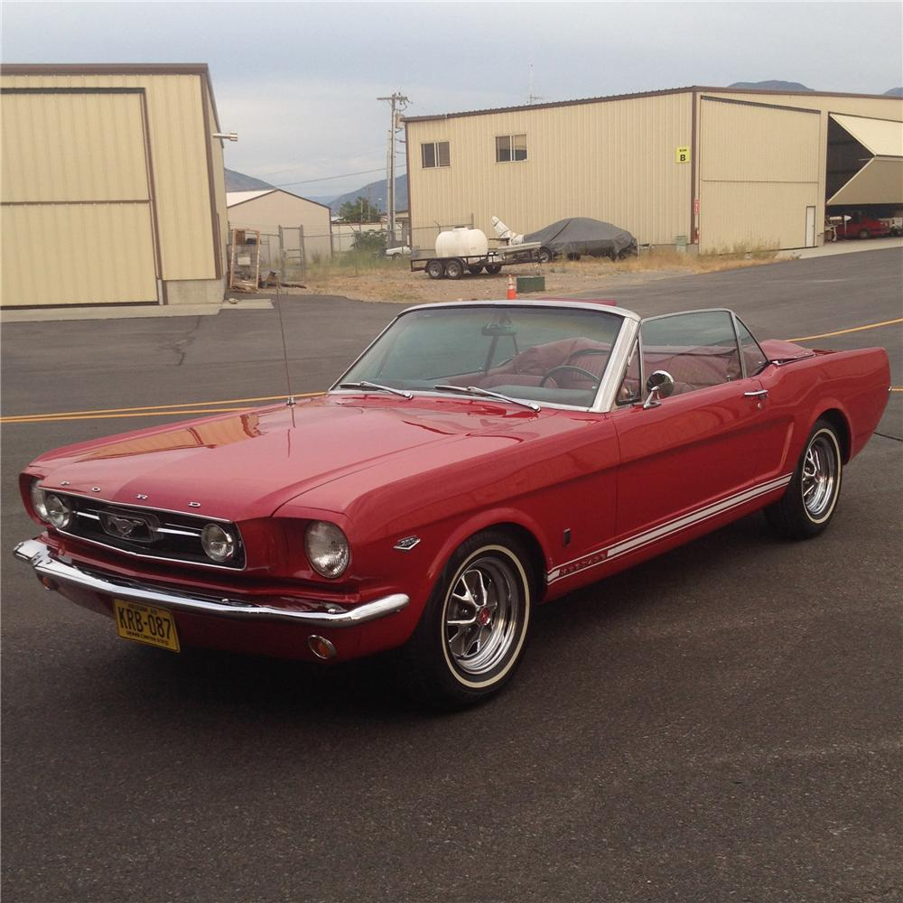1966 FORD MUSTANG GT CONVERTIBLE - Front 3/4 - 177100