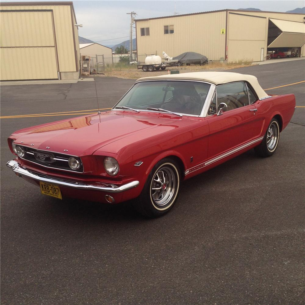 1966 FORD MUSTANG GT CONVERTIBLE - Side Profile - 177100