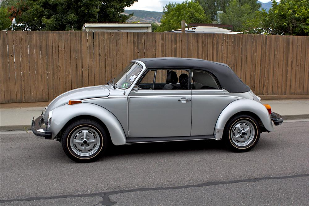 1979 VOLKSWAGEN BEETLE CONVERTIBLE - Side Profile - 177102