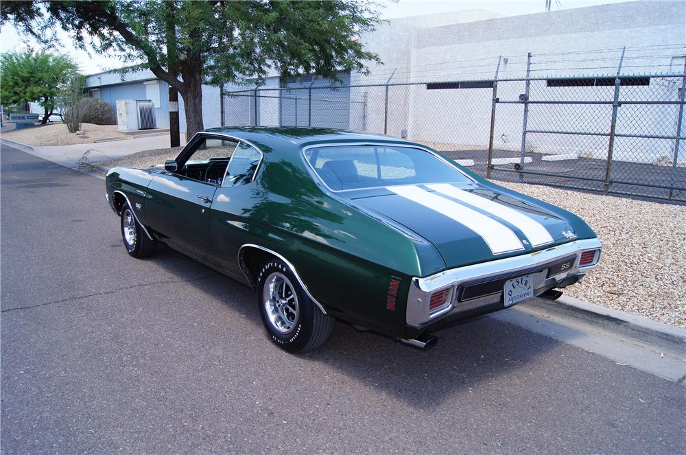 1970 CHEVROLET CHEVELLE SS LS6 2 DOOR COUPE - Rear 3/4 - 177110