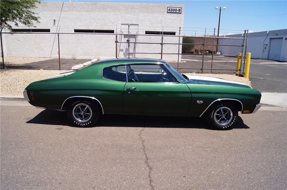 1970 CHEVROLET CHEVELLE SS LS6 2 DOOR COUPE - Side Profile - 177110