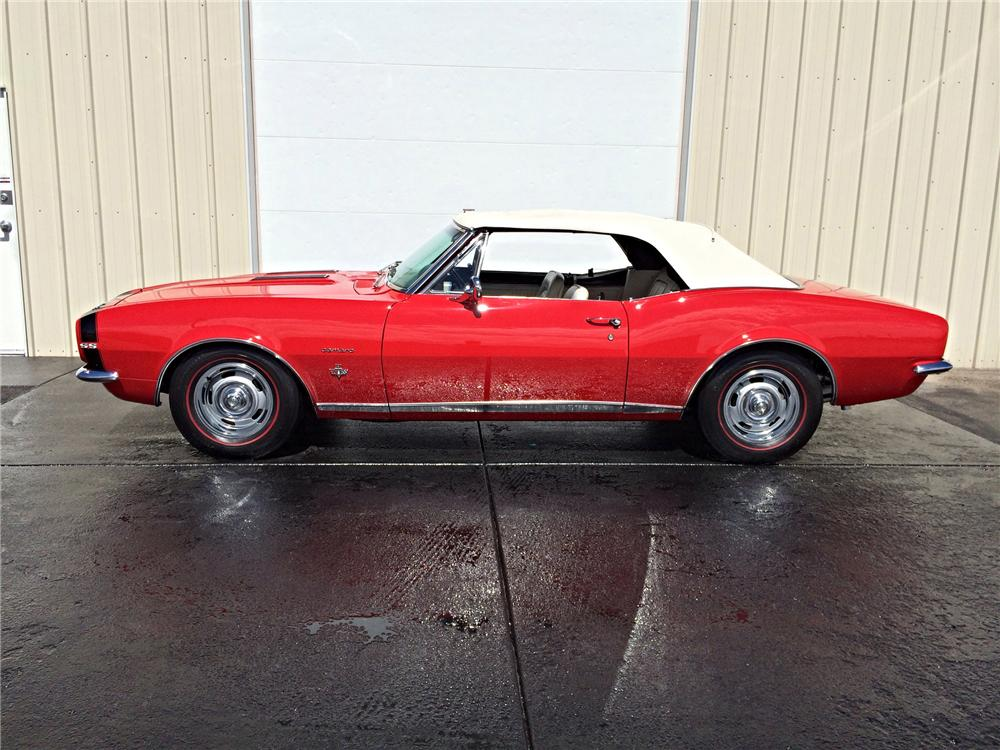 1967 CHEVROLET CAMARO RS/SS CONVERTIBLE - Side Profile - 177129