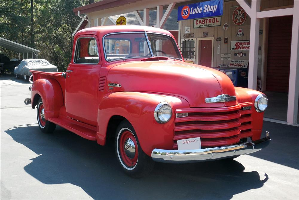 1950 CHEVROLET 5 WINDOW PICKUP - Front 3/4 - 177170