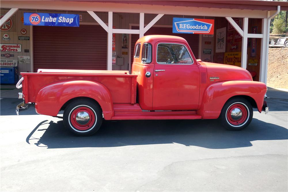 1950 CHEVROLET 5 WINDOW PICKUP - Side Profile - 177170