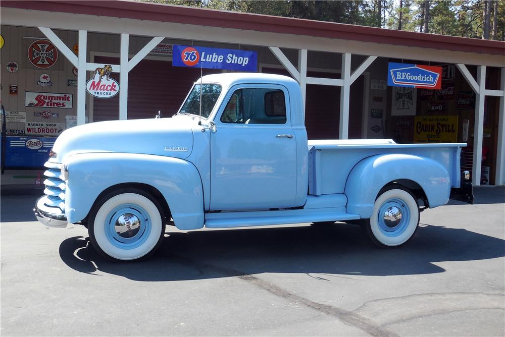 1952 CHEVROLET PICKUP - Side Profile - 177173