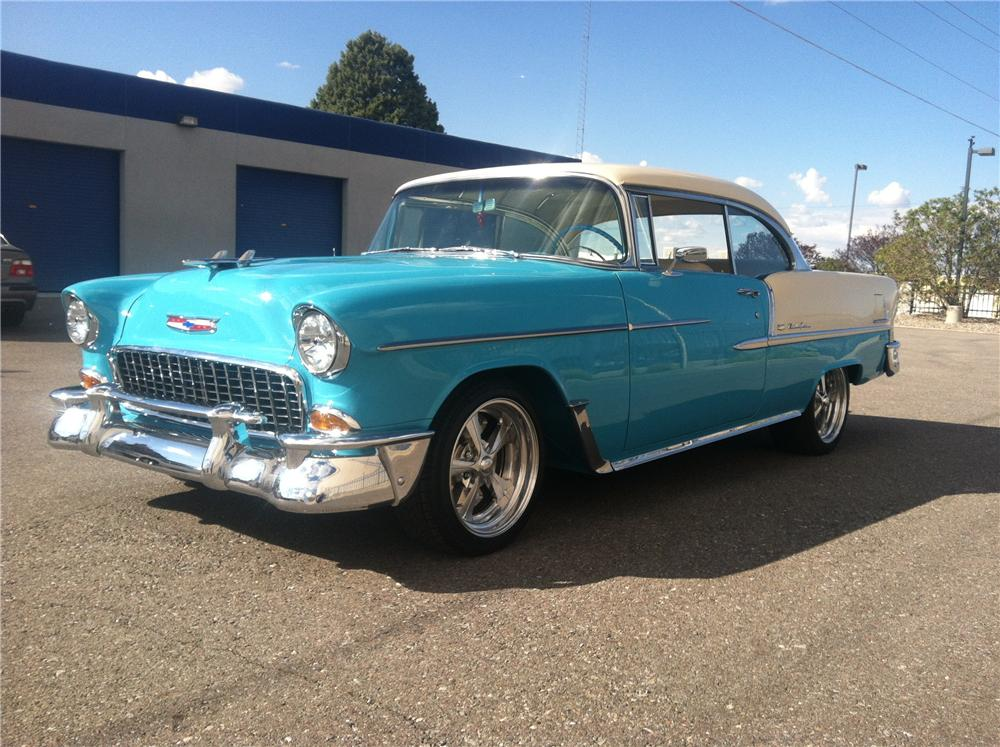 1955 CHEVROLET BEL AIR CUSTOM 2 DOOR HARDTOP - Front 3/4 - 177178