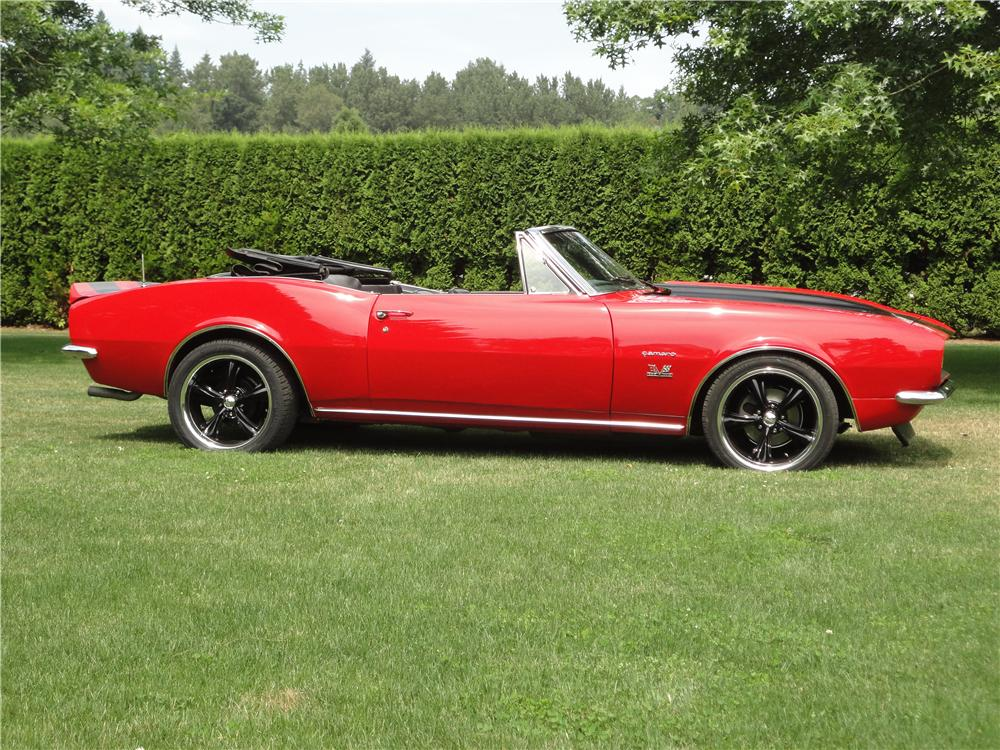 1967 CHEVROLET CAMARO CUSTOM CONVERTIBLE - Side Profile - 177217