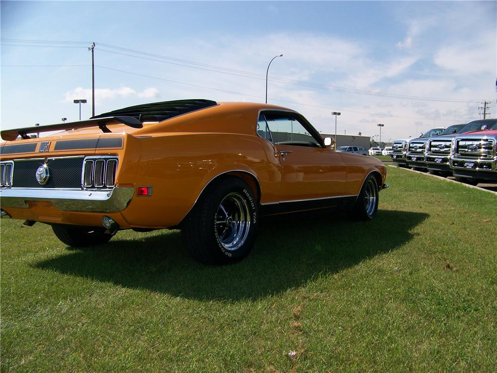 1970 FORD MUSTANG MACH 1 FASTBACK - Rear 3/4 - 177242