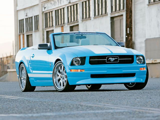 2005 ford mustang custom convertible 177249. Black Bedroom Furniture Sets. Home Design Ideas