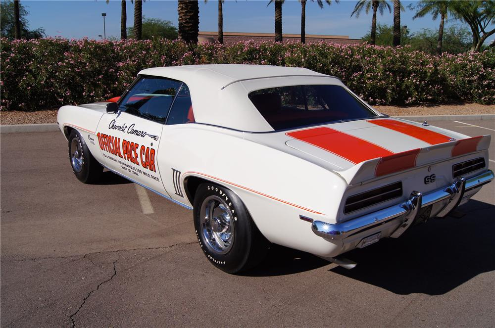 1969 CHEVROLET CAMARO RS/SS PACE CAR CONVERTIBLE - Rear 3/4 - 177263