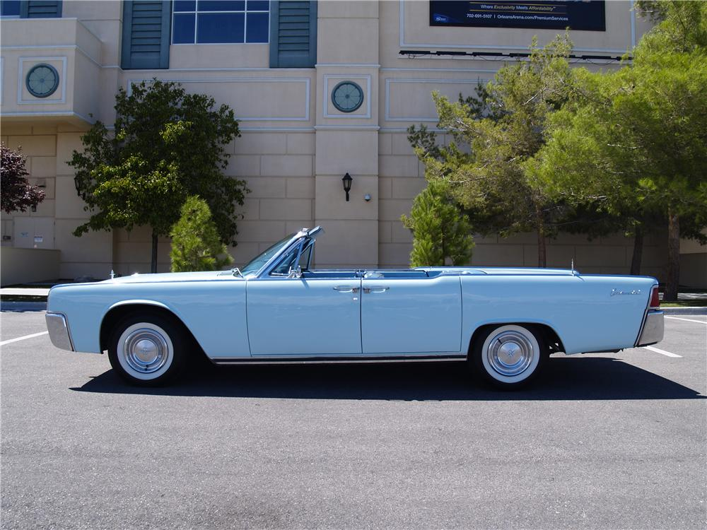 1961 LINCOLN CONTINENTAL 4 DOOR CONVERTIBLE - Side Profile - 177277