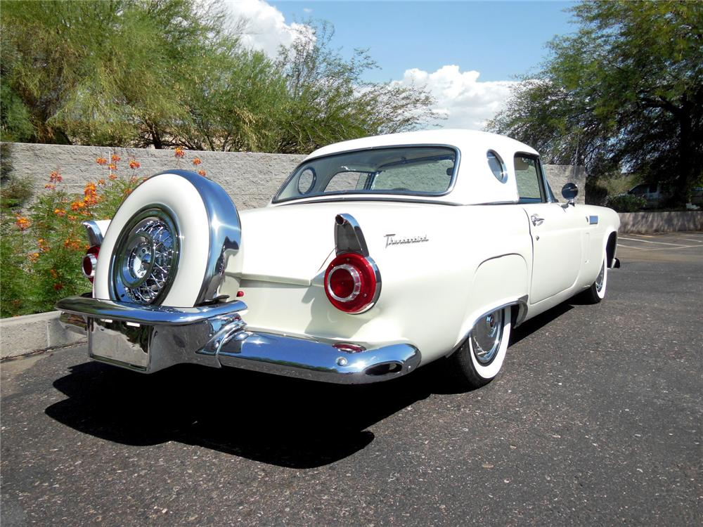 1956 FORD THUNDERBIRD CONVERTIBLE - Rear 3/4 - 177297