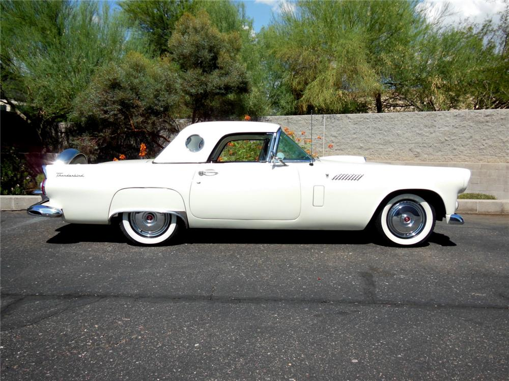 1956 FORD THUNDERBIRD CONVERTIBLE - Side Profile - 177297