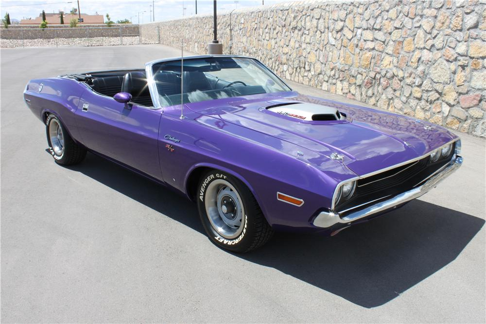 1970 DODGE CHALLENGER R/T CONVERTIBLE - Front 3/4 - 177309