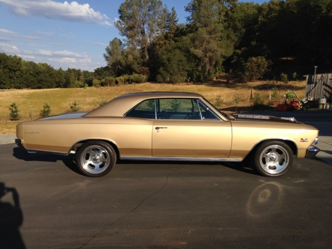 1966 CHEVROLET CHEVELLE SS 2 DOOR COUPE - Side Profile - 177317