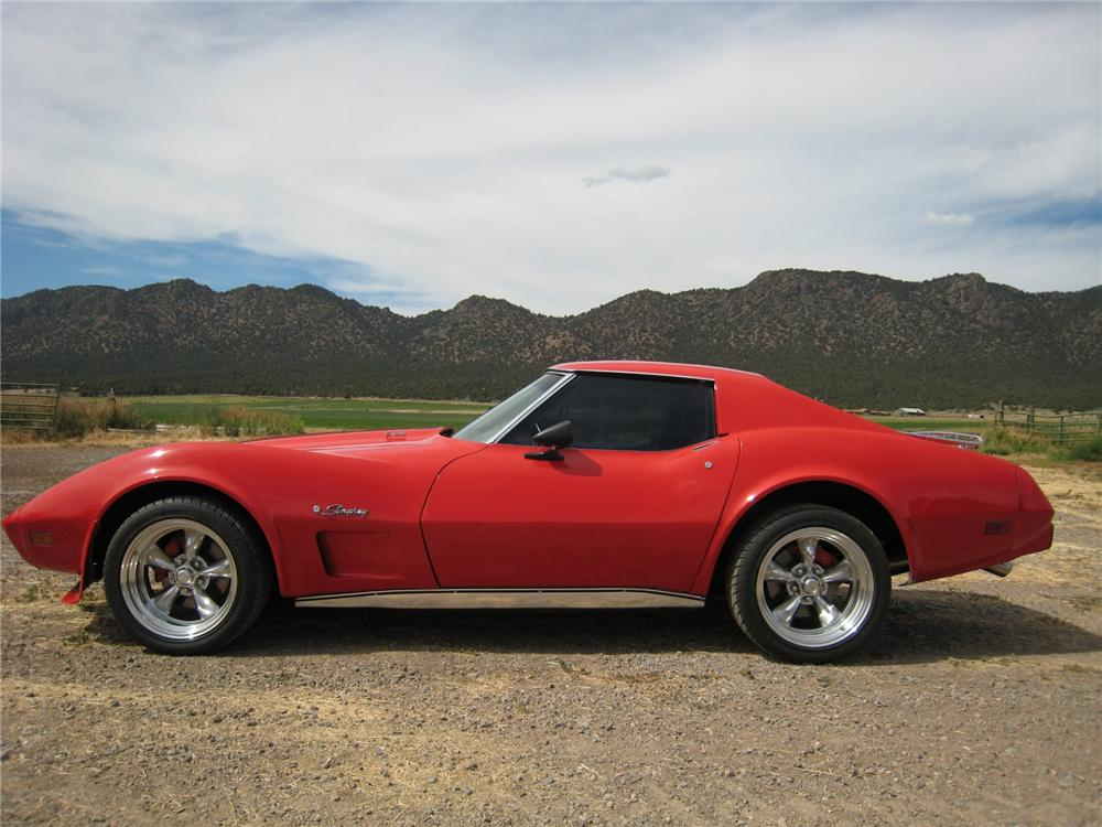 1975 CHEVROLET CORVETTE 2 DOOR COUPE - Side Profile - 177336