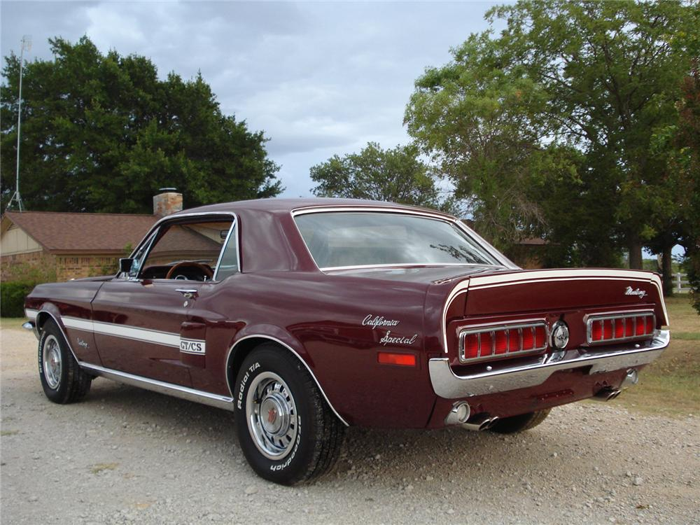 1968 ford mustang gt cs 2 door hardtop 177350. Black Bedroom Furniture Sets. Home Design Ideas