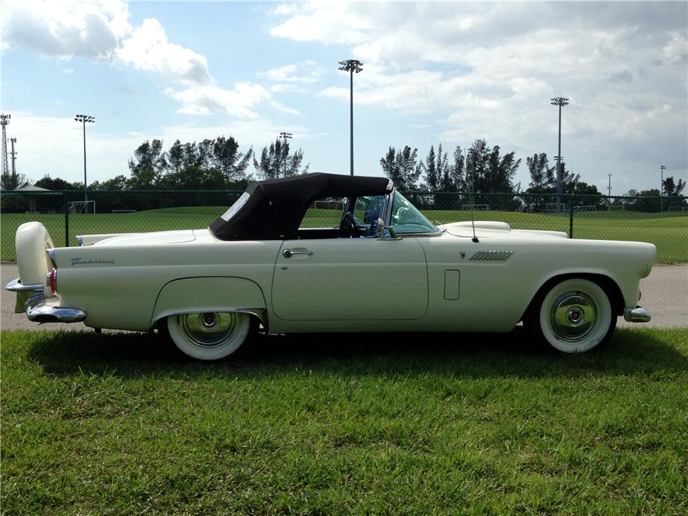 1956 FORD THUNDERBIRD CONVERTIBLE - Side Profile - 177361