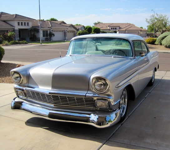 1956 CHEVROLET BEL AIR CUSTOM 2 DOOR HARDTOP - Front 3/4 - 177367