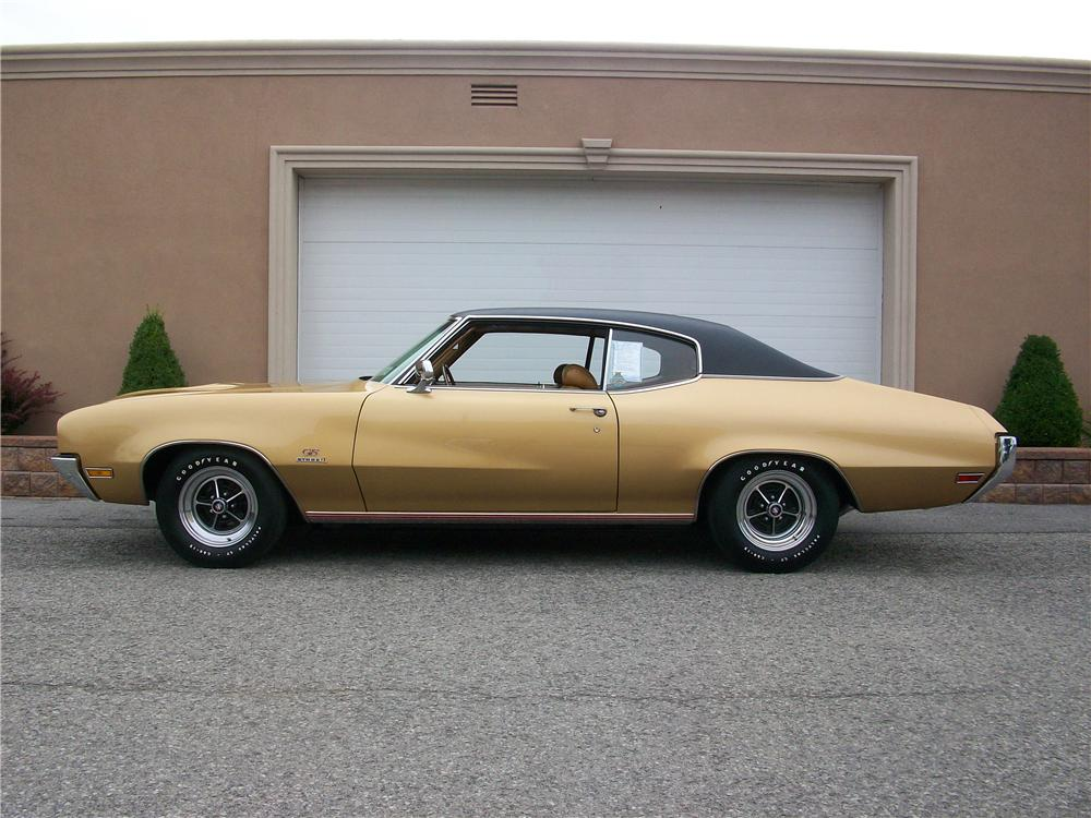 1970 BUICK GS 455 STAGE 1 2 DOOR COUPE - Side Profile - 177377