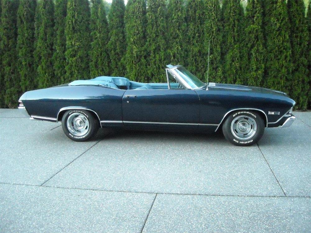 1968 CHEVROLET CHEVELLE SS CONVERTIBLE - Side Profile - 177383