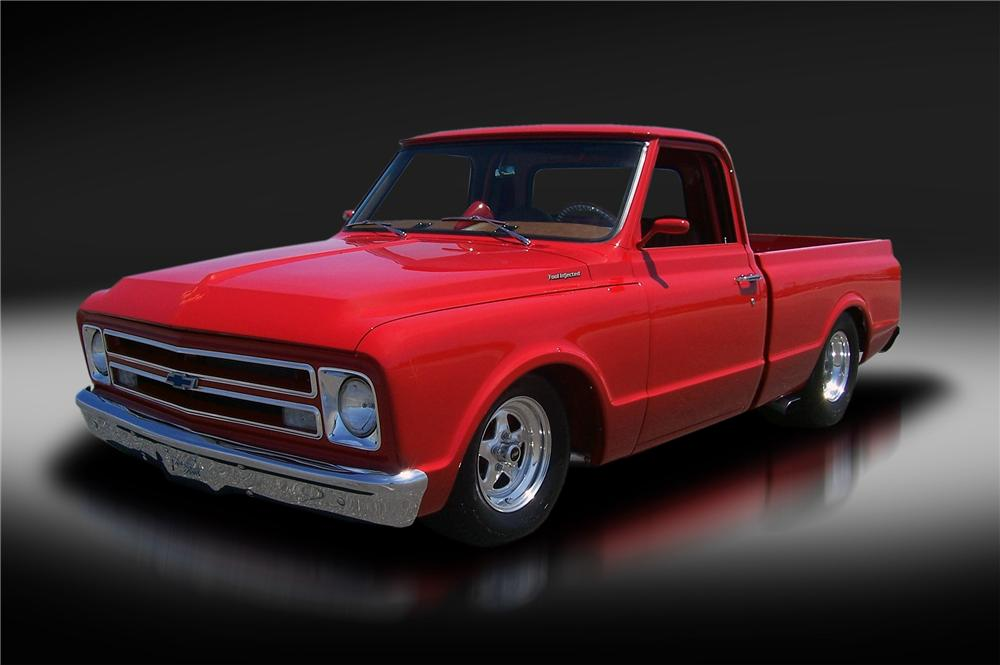 1967 CHEVROLET C-10 CUSTOM PICKUP - Front 3/4 - 177394