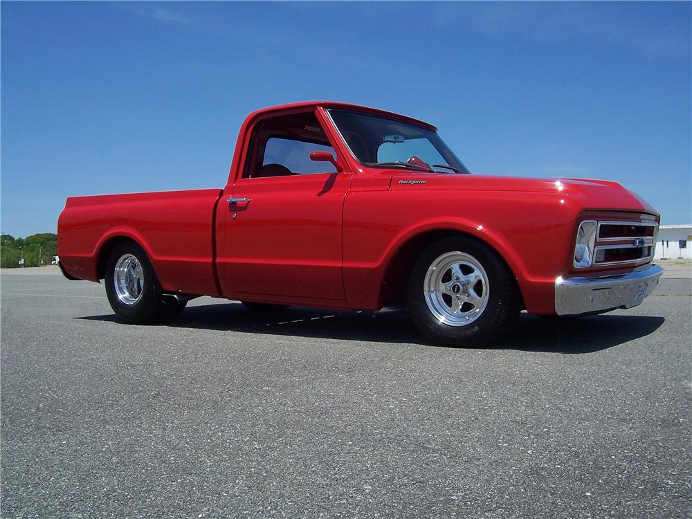 1967 CHEVROLET C-10 CUSTOM PICKUP - Side Profile - 177394