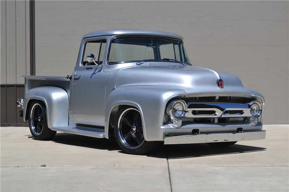 1956 FORD F-100 CUSTOM PICKUP - Front 3/4 - 177395