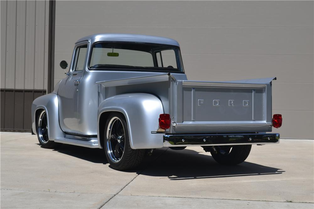 1956 FORD F-100 CUSTOM PICKUP - Rear 3/4 - 177395