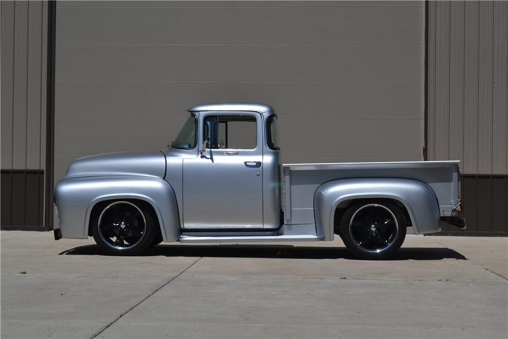 1956 FORD F-100 CUSTOM PICKUP - Side Profile - 177395