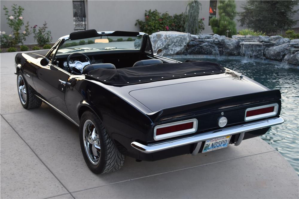 1967 CHEVROLET CAMARO RS CUSTOM CONVERTIBLE - Rear 3/4 - 177406