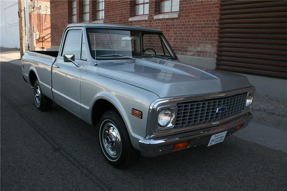 1971 CHEVROLET C-10 CUSTOM PICKUP - Front 3/4 - 177408