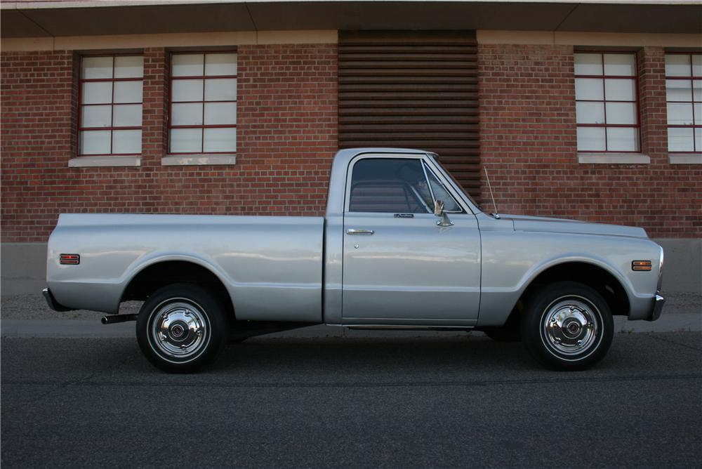 1971 CHEVROLET C-10 CUSTOM PICKUP - Side Profile - 177408