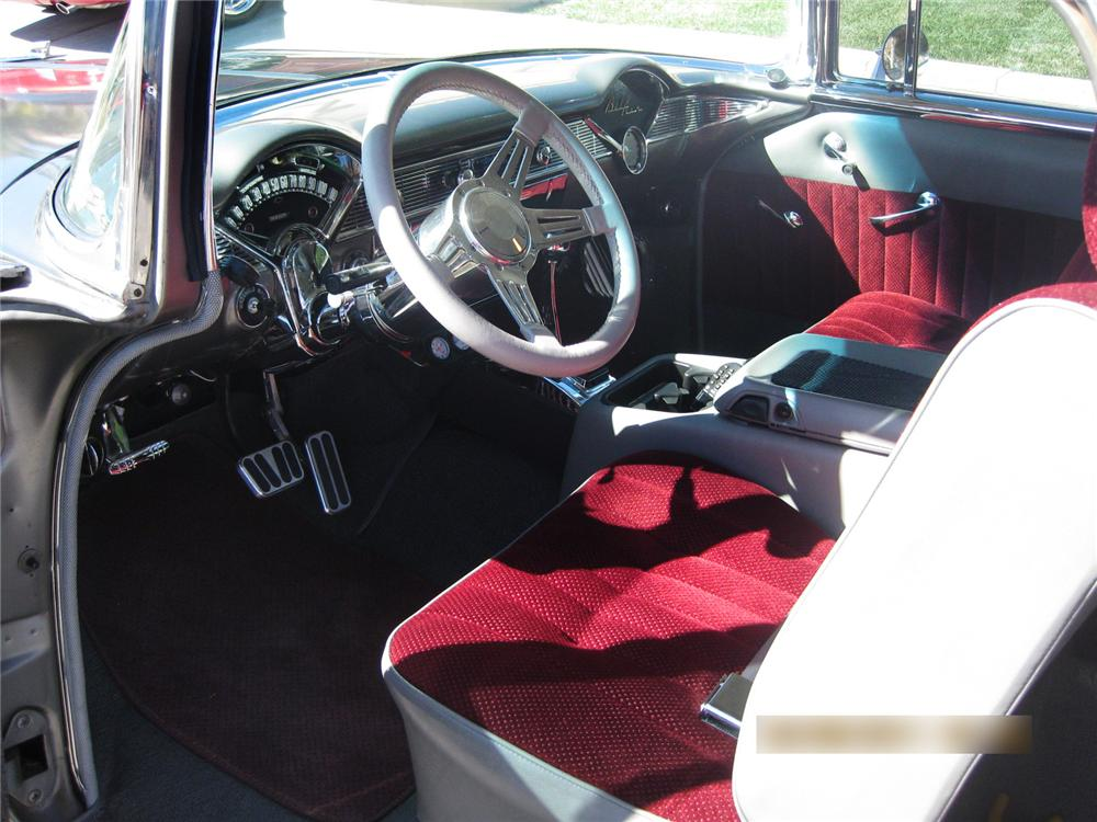 1956 CHEVROLET NOMAD CUSTOM 2 DOOR WAGON - Interior - 177418