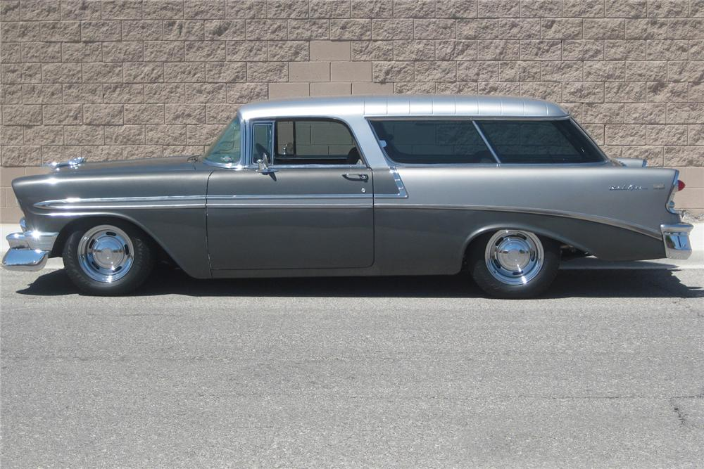 1956 CHEVROLET NOMAD CUSTOM 2 DOOR WAGON - Side Profile - 177418