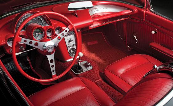 1962 CHEVROLET CORVETTE CONVERTIBLE - Interior - 177432