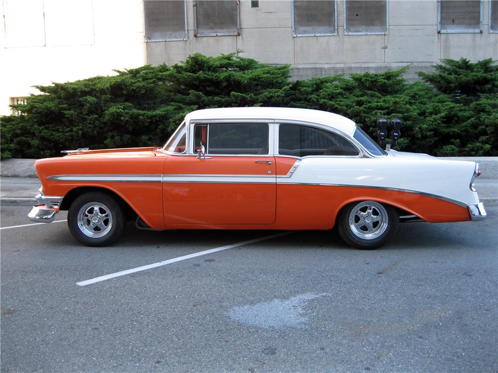 1956 CHEVROLET BEL AIR CUSTOM 2 DOOR HARDTOP - Side Profile - 177465