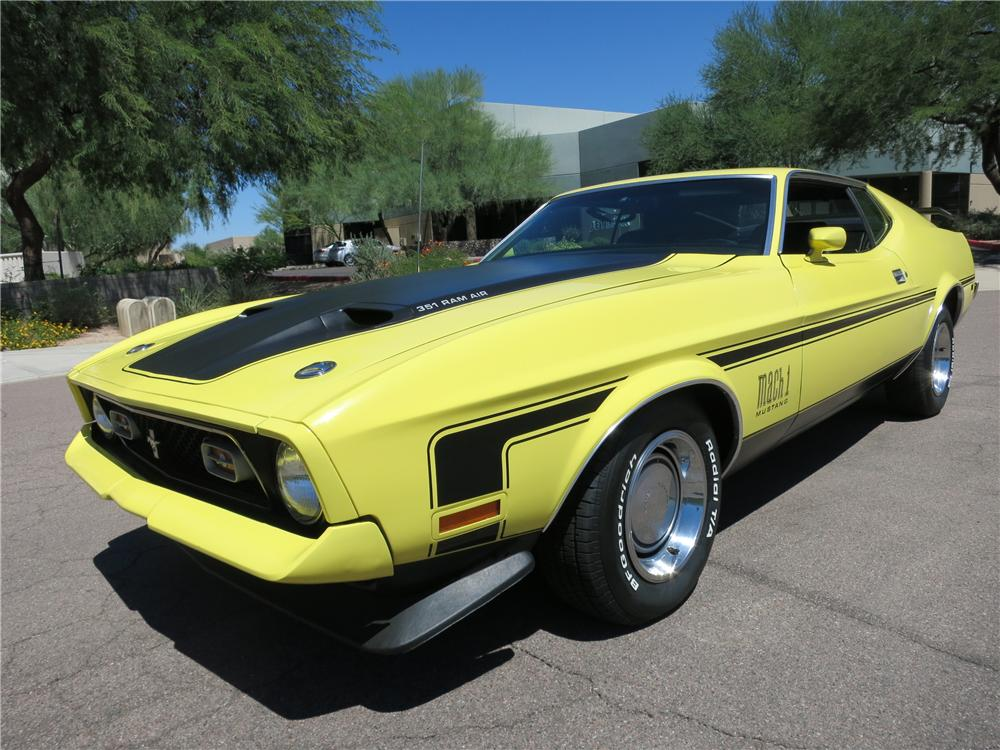 Online Car Auctions >> 1971 FORD MUSTANG MACH 1 FASTBACK