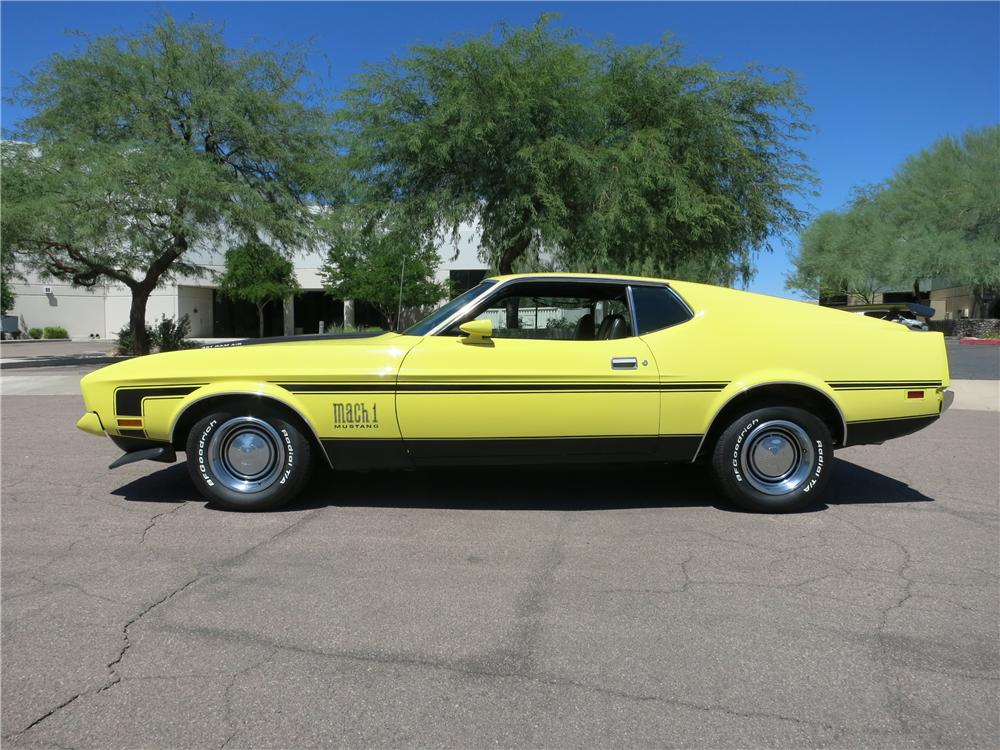 1971 FORD MUSTANG MACH 1 FASTBACK - Side Profile - 177468