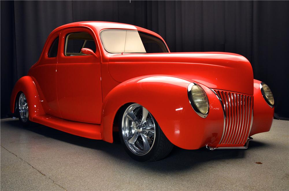 1939 FORD CUSTOM 2 DOOR COUPE - Front 3/4 - 177478