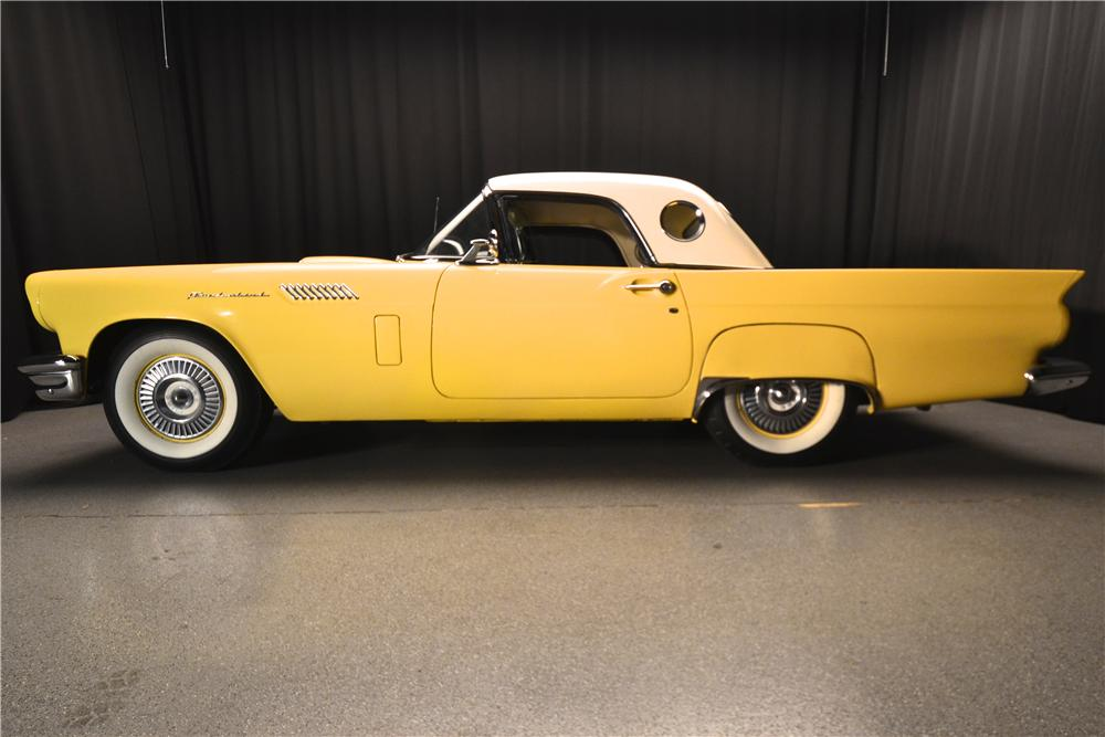 1957 FORD THUNDERBIRD CONVERTIBLE - Side Profile - 177486
