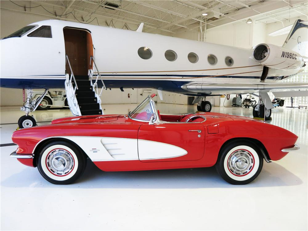 1961 CHEVROLET CORVETTE CONVERTIBLE - Side Profile - 177523