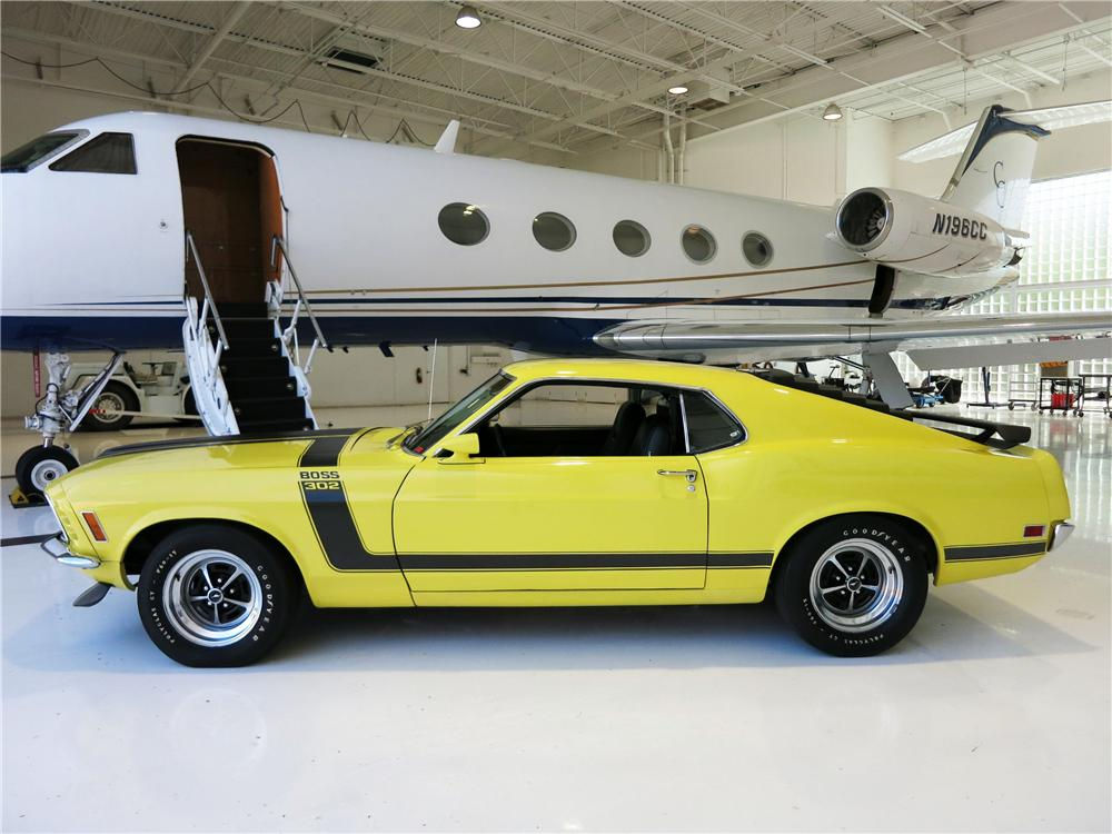 1970 FORD MUSTANG BOSS 302 FASTBACK - Side Profile - 177524