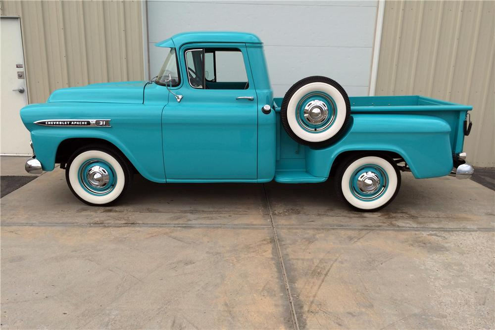 1959 CHEVROLET 3100 PICKUP - Side Profile - 177533