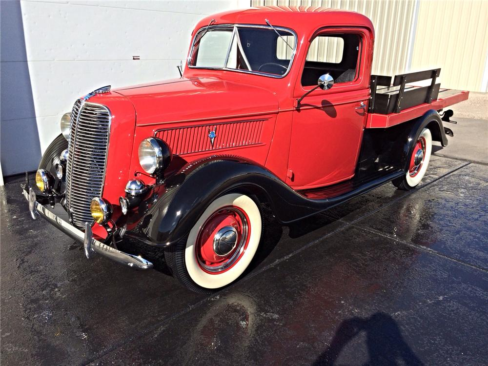 1937 FORD FLATBED PICKUP - Front 3/4 - 177539