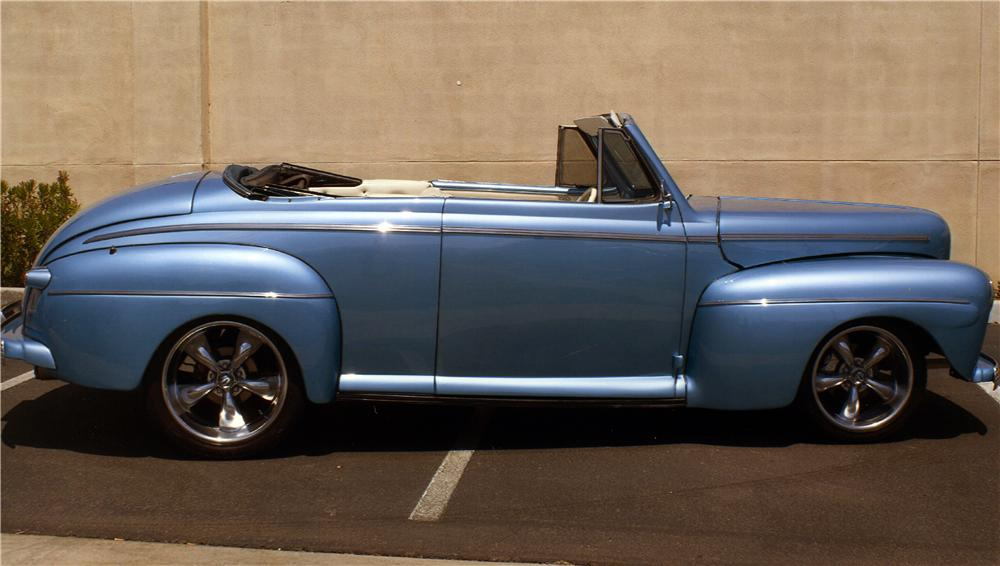 1946 FORD DELUXE CUSTOM CONVERTIBLE - Side Profile - 177542